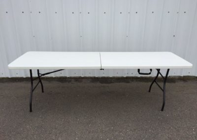 8' White Foldable Tables
