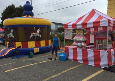 Event with Bouncy Castle and Cotton Candy