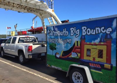 The Yarmouth Big Bounce Rentals Truck!